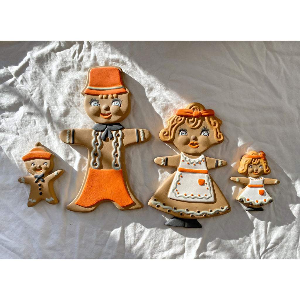 Vintage Ceramic Gingerbread Family