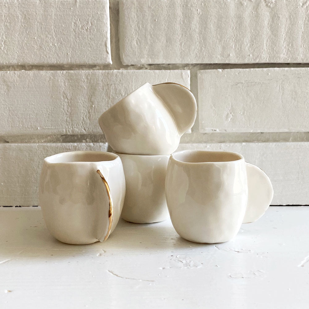 White Espresso Cups - Set of 4