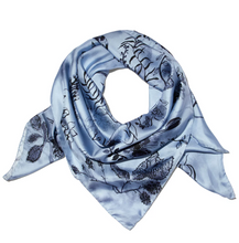 Load image into Gallery viewer, Blue Bloom Scarf