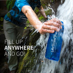 LifeStraw Go Water Filter Bottle with 2-Stage Integrated Filter Straw for Hiking, Backpacking, and Travel, Blue : Sports & Outdoors - Endure Disasters