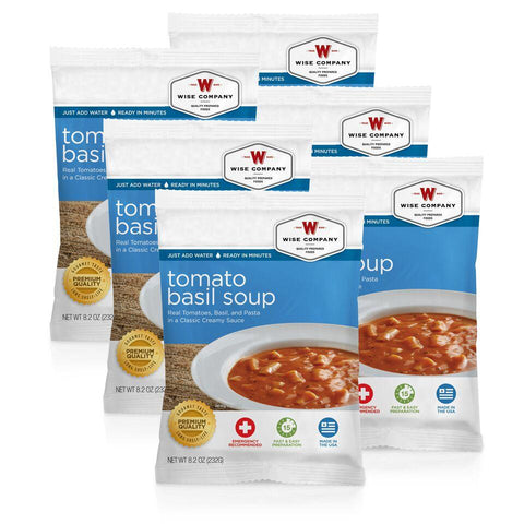 NEW Tomato Basil Soup Cook in the Pouch - 6 PACK - Endure Disasters