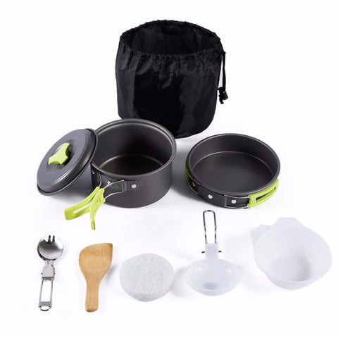 8PCS Portable Outdoor Cookware Set - Endure Disasters