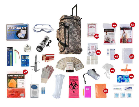 4 Person Elite Survival Kit (72+ Hours) Camo - Endure Disasters