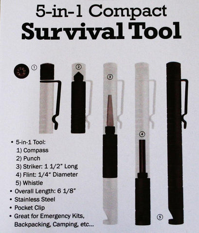 5 in 1 Compact Survival Tool - Endure Disasters