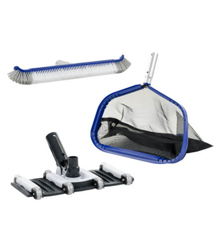 Water TechniX PRO Pool Equipment Kit - Vacuum Head, Leaf Shovel, Pool Brush