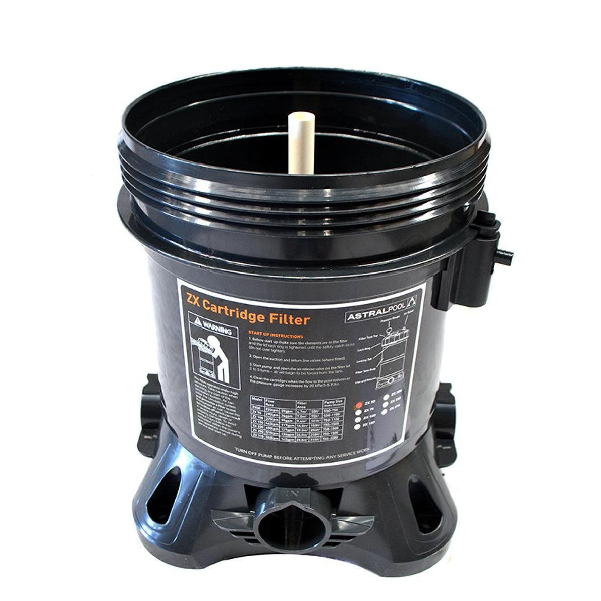 Astral Filter Tank Only ZX50 ZX75-Cartridge Filters-Mr Pool Man
