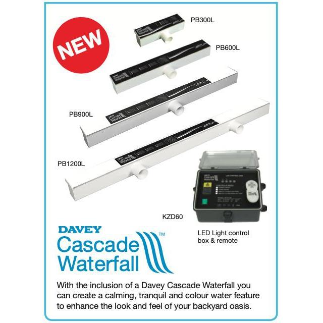 Davey Cascade Waterfall 1200mm PB1200-150L-Accessories-Mr Pool Man