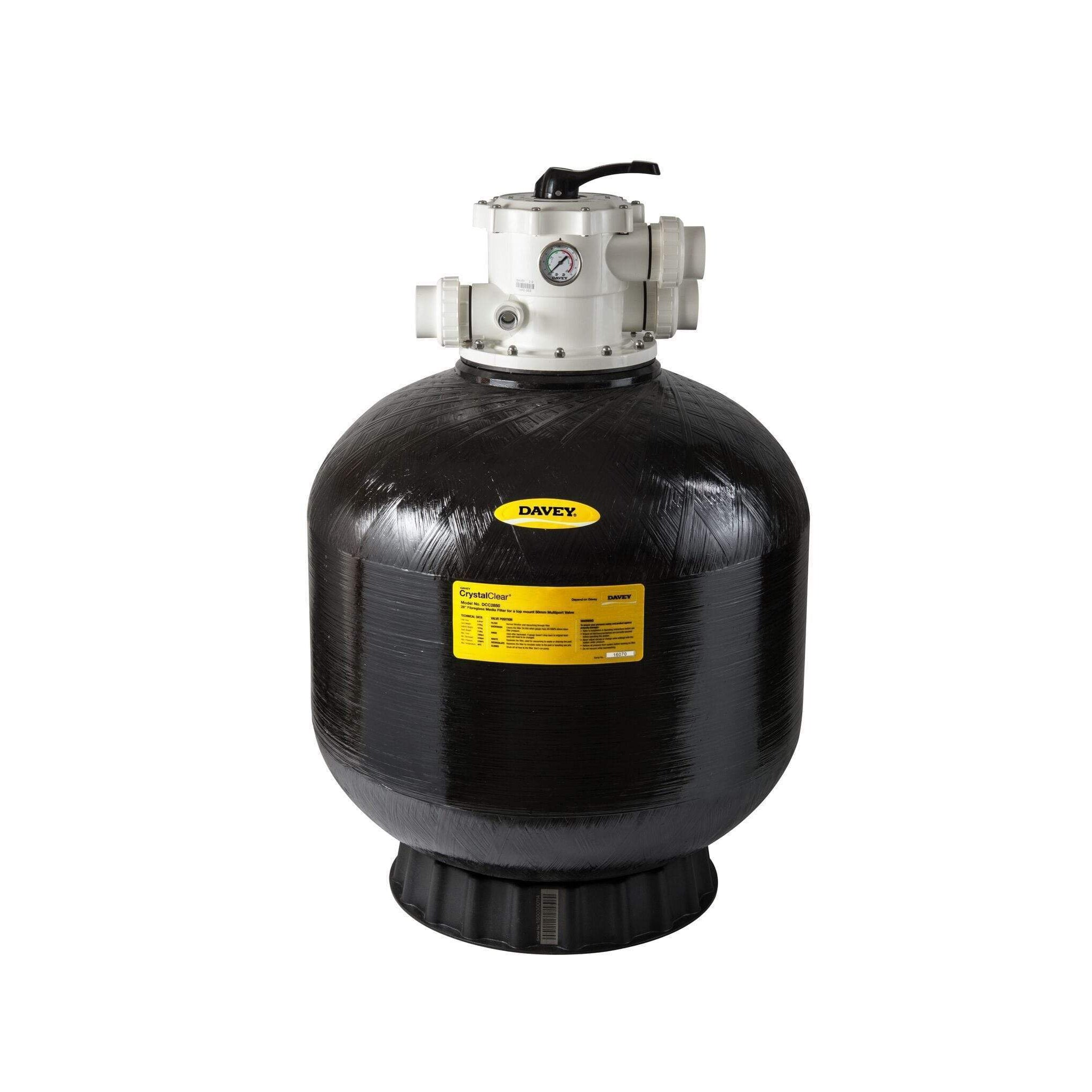 Davey Sand Filter Crystal Clear CCF 28inch 50mm-Sand Filters-Mr Pool Man