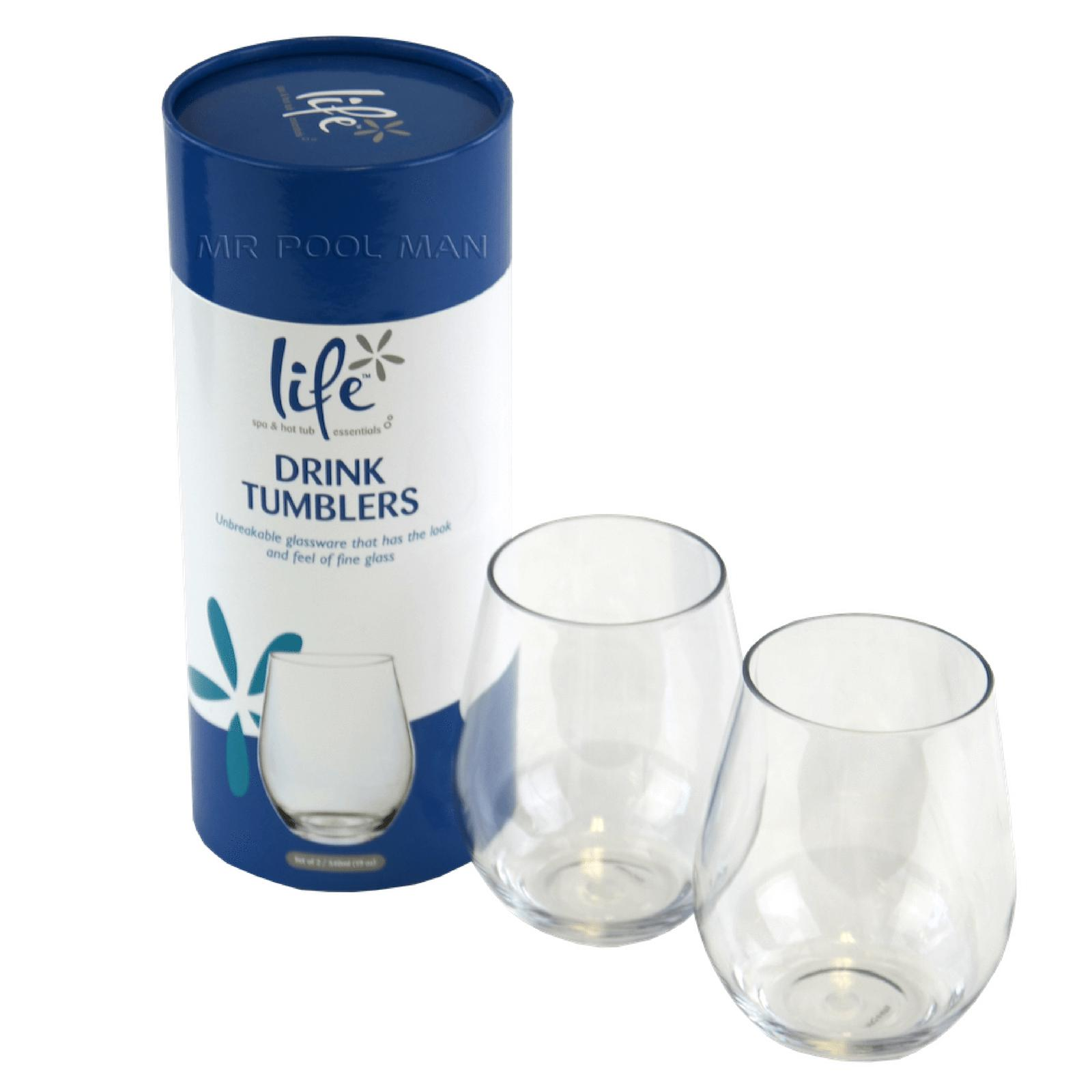 Life Wine Tumblers-Spa Accessories-Mr Pool Man