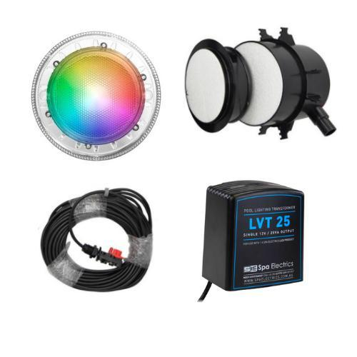 Spa Electrics Quantum WN Kit Multi PLUS Colour LED Light + Transformer + 20m Cable-Lights-Mr Pool Man