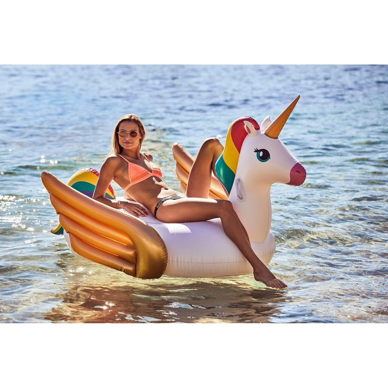 Sunnylife Luxe Ride-On Float Unicorn-Inflatables & Games-Mr Pool Man