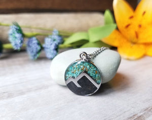 Crushed Turquoise Resin Jewelry