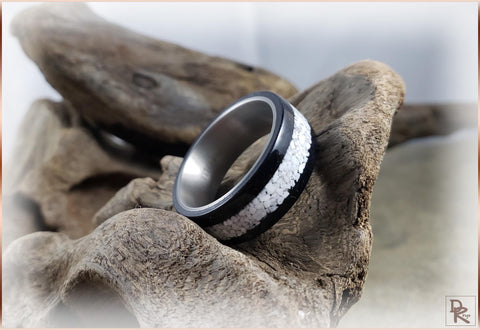 Howlite on black ring