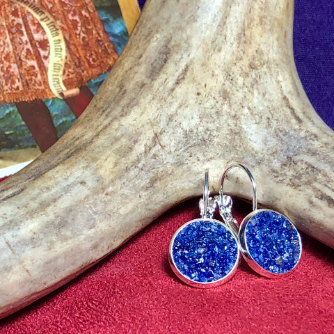 Montana Sodalite Silver French Earrings