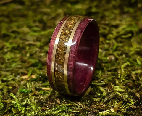 Purple Wood with Tiger's Eye Inlay