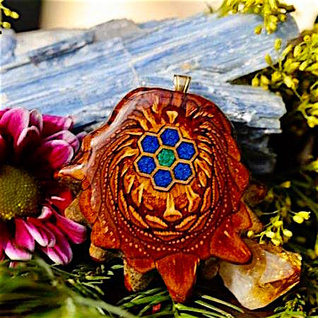 Lapis Malachite Third Eye Pinecones Pendant