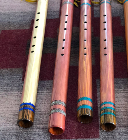 Native American Flutes with Right Rocks crushed stone inlay