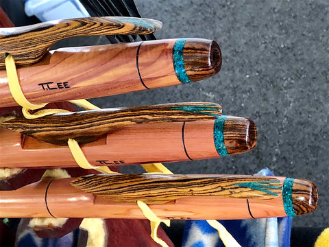 Native American Flutes featuring Chrysocolla