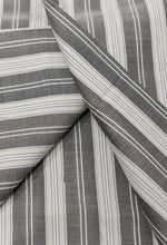 Load image into Gallery viewer, Grey Striped Swiss Filtex (5 yards)