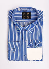 Load image into Gallery viewer, Blue Striped Long Sleeve Shirt