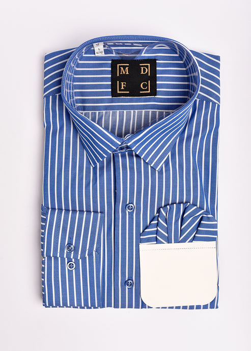Blue Striped Long Sleeve Shirt