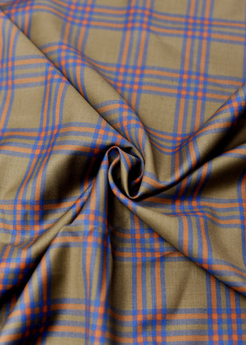 Green Blue/Orange Checked Cashmere 220 (N6,000)