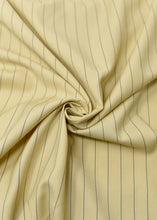 Load image into Gallery viewer, Butter Yellow Blue Striped Cashmere 180 (N5,000 Per Yard)