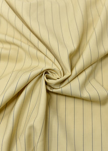 Butter Yellow Blue Striped Cashmere 180 (N5,000 Per Yard)
