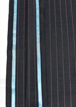 Load image into Gallery viewer, Black  Beige Pin Striped Cashmere 220 (N6,000 Per Yard)