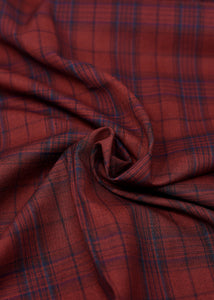 Red Blue Checked Cashmere 180 (N5,000 Per Yard)