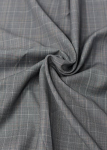 Grey Checked Cashmere 180 (N5,000 per yard)
