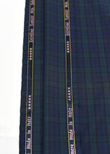 Load image into Gallery viewer, Navy Blue Green Checked Cashmere 220