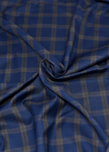 Load image into Gallery viewer, Blue Brown Checked Cashmere 180 (N5,000 Per Yard)