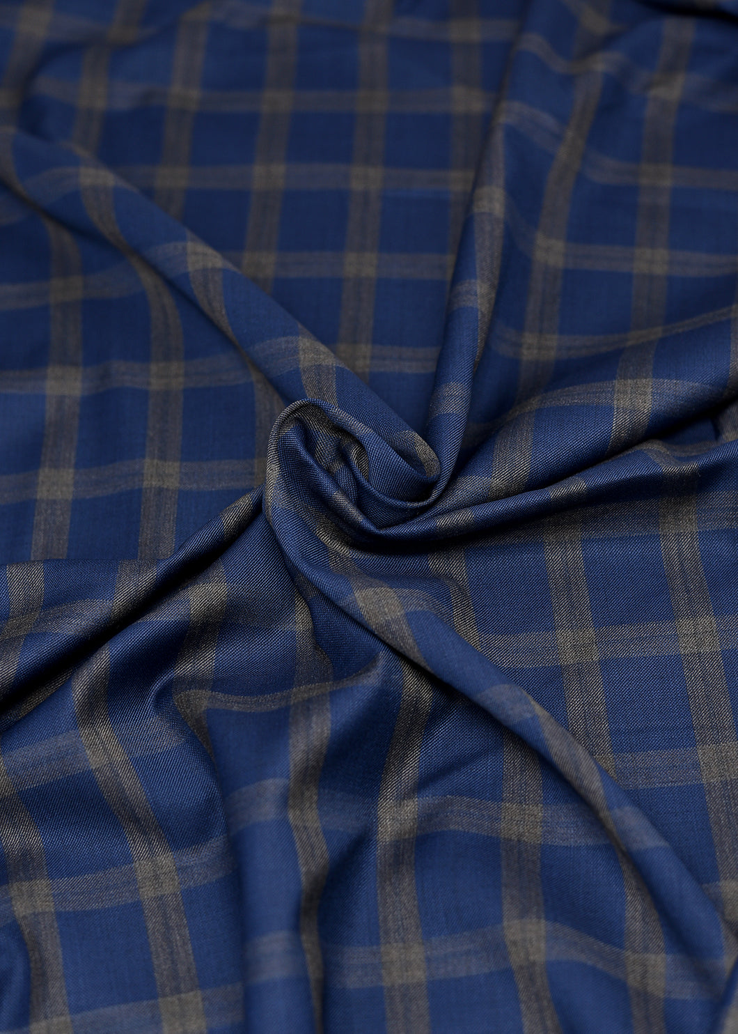 Blue Brown Checked Cashmere 180 (N5,000 Per Yard)