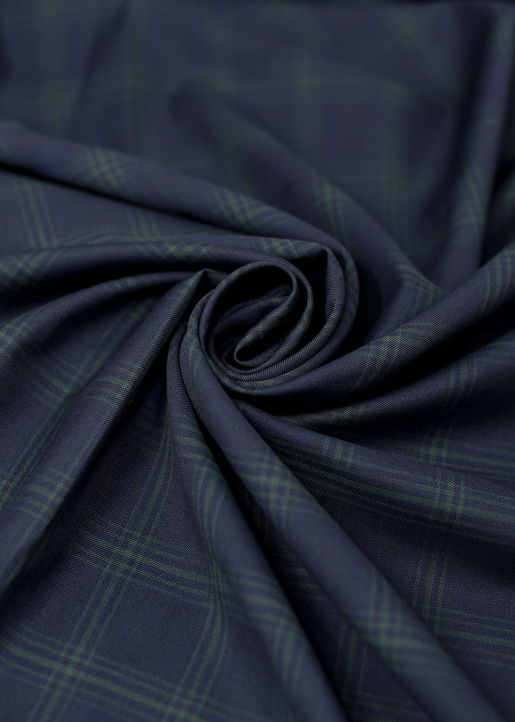 Blue Green Checked Cashmere 180 (N5,000 per yard)