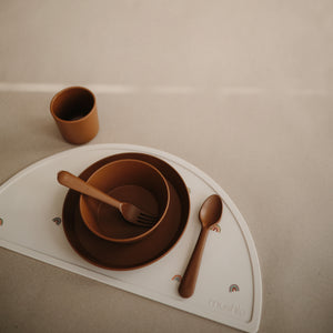 Fork and Spoon Set (Caramel)