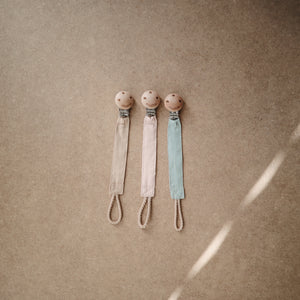 Fabric Pacifier Clip (Blush)