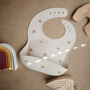 Silicone Baby Bib (Rainbows)