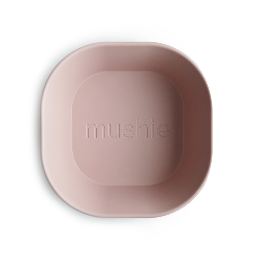 Square Dinnerware Bowl, Set of 2 (Blush)