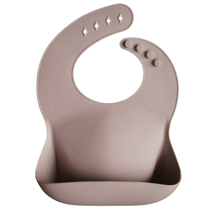 Silicone Baby Bib (Warm Taupe)