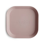 Square Dinnerware Plates, Set of 2 (Blush)