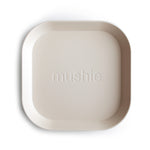 Square Dinnerware Plates, Set of 2 (Ivory)