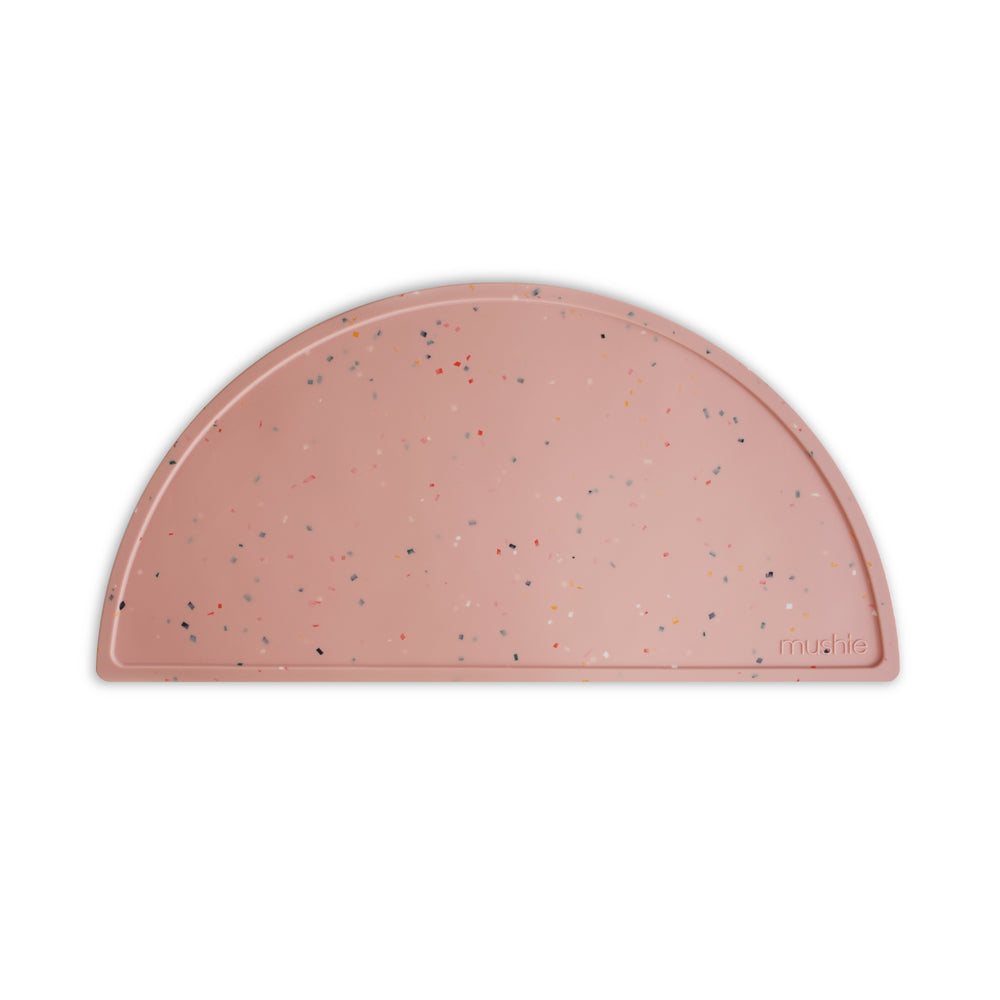Silicone Place Mat (Powder Pink Confetti)