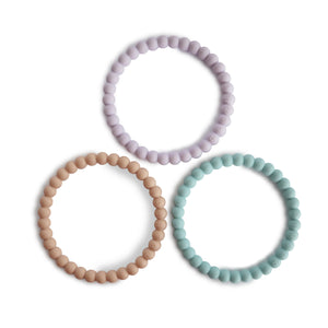 Pearl Teething Bracelet (Lilac/Cyan/Soft Peach)