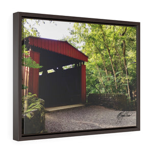 Summer Covered Bridge Framed Canvas - Various Sizes