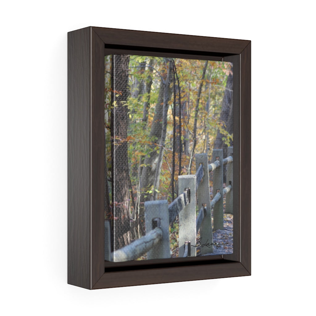 Forbidden Drive Fence Framed Canvas - 5x7