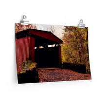 Load image into Gallery viewer, Fall Covered Bridge Print-Various Sizes