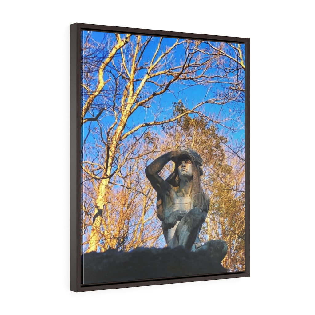 Tedyuscung Vertical Framed Canvas-Various Sizes