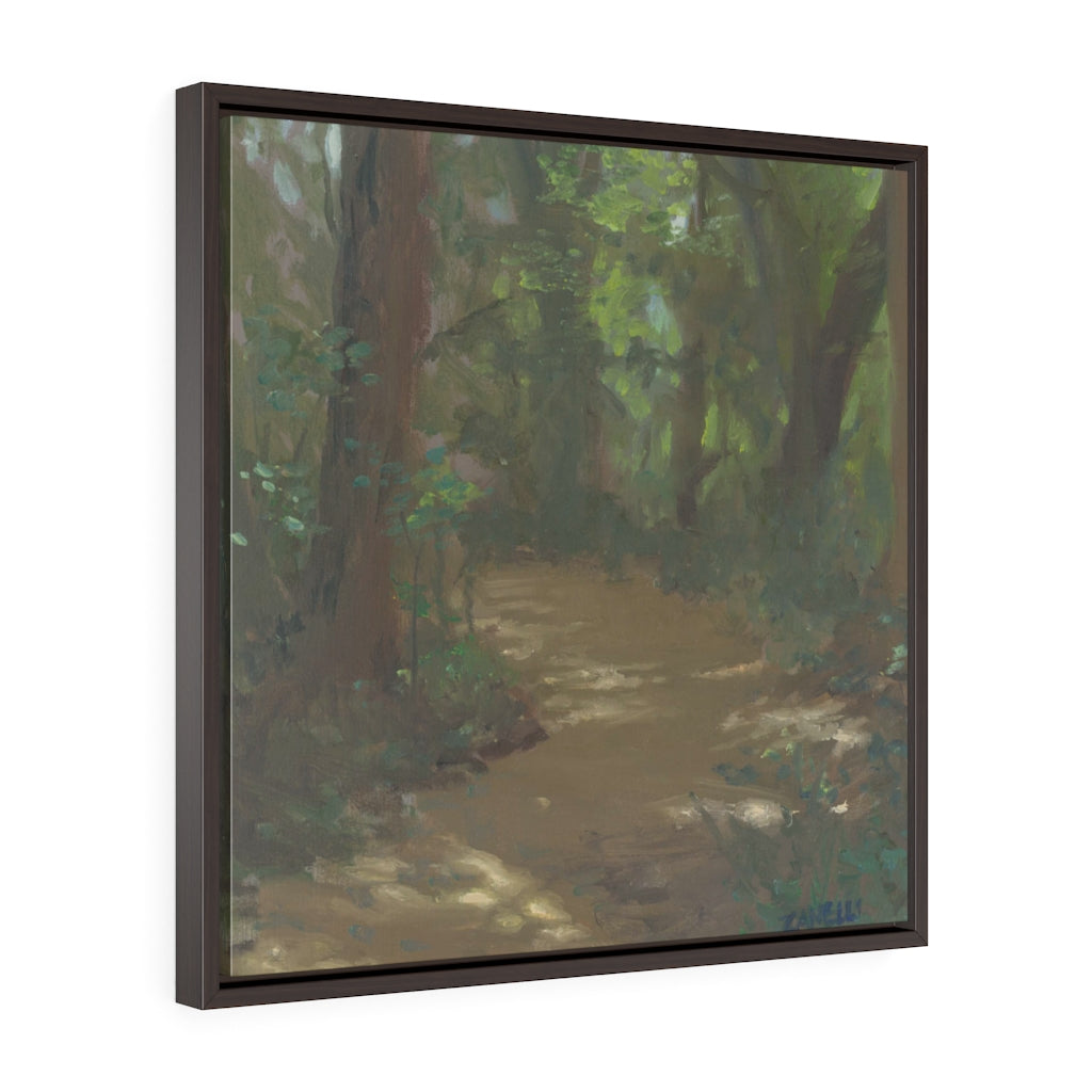 Light on the Trail Square Framed Canvas - Various Sizes
