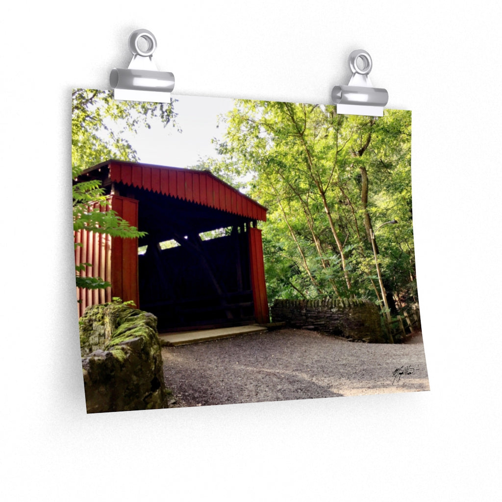 Summer Covered Bridge Print-Various Sizes
